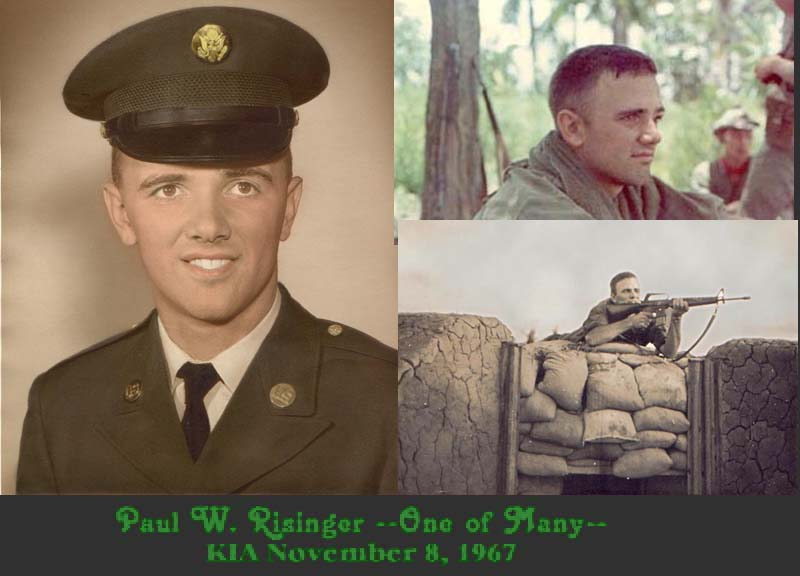 Paul W. Risnger KIA 8 Nov., 1967